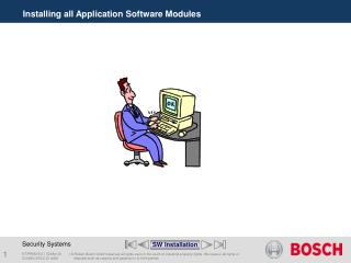 Installing all Application Software Modules