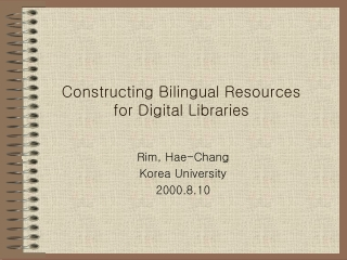 Cross Language Information Retrieval CLIR