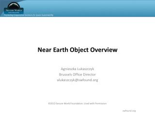 Near Earth Object Overview