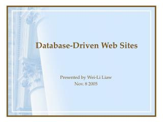 Database-Driven Web Sites