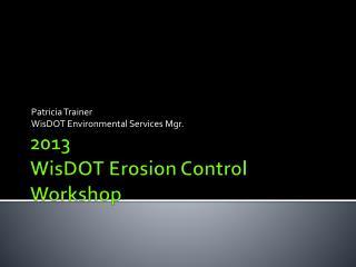 2013 WisDOT Erosion Control Workshop
