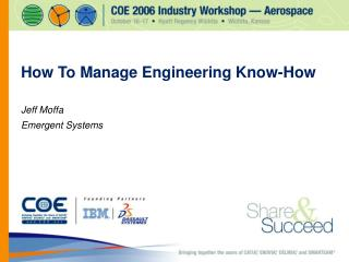 How To Manage Engineering Know-How