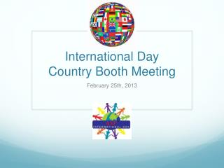 International Day Country Booth Meeting