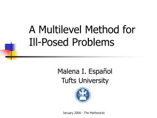 A Multilevel Method for  Ill-Posed Problems
