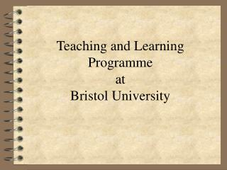 Teaching and Learning Programme at Bristol University