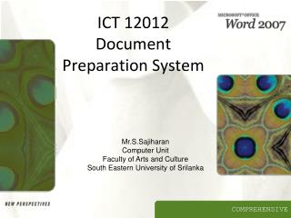ICT 12012 Document Preparation System