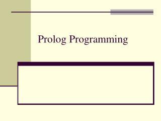 Prolog Programming