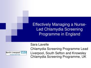 Effectively Managing a Nurse-Led Chlamydia Screening Programme in England