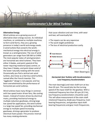 Accelerometer's for Wind Turbines