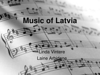 Music of Latvia