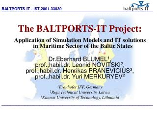 The BALTPORTS-IT Project: