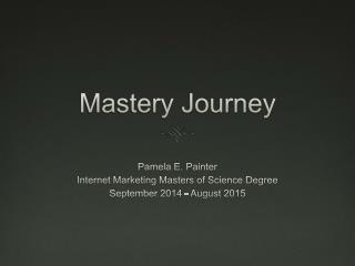 IMMS Mastery Journey