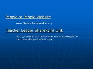 People to People Website