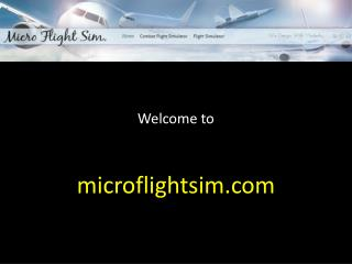 Microflightsim – The ultimate flight simulation