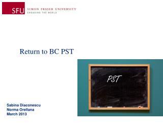 Return to BC PST