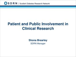 Patient and Public Involvement in Clinical Research