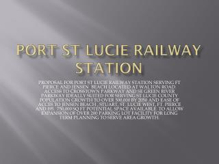 PORT ST LUCIE RAILWAY STATION