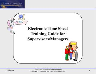 Electronic Time Sheet Training Guide for Supervisors/Managers