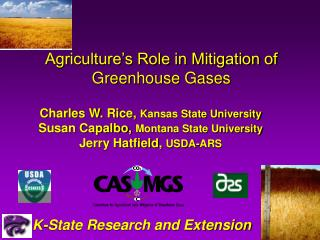 Agriculture's Role in Mitigation of Greenhouse Gases