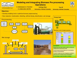 Modeling and Integrating Biomass Pre processing Operations