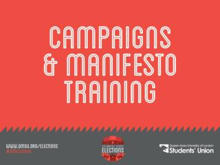 Campaign and Manifesto training