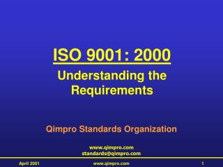 ISO 9001: 2000