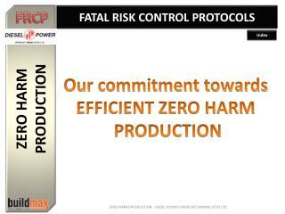 ZERO HARM  PRODUCTION
