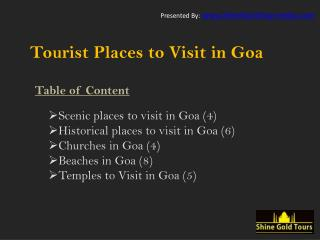 Goa Holidays - 28 Must Visit Tourist Places in Goa