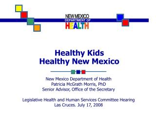 Healthy Kids  Healthy New Mexico
