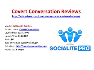 Covert Conversation Reviews Bonuses