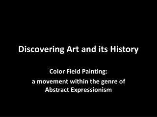 Discovering Art and its History