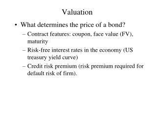 Valuation
