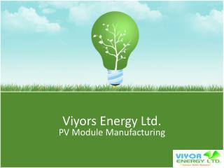 Viyors Energy Ltd.