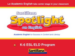 K-6 ESL/ELD Program