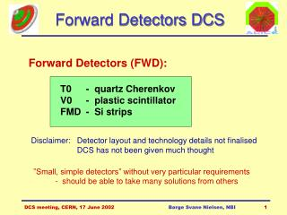 Forward Detectors DCS