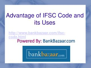 IFSC Code and its advantages