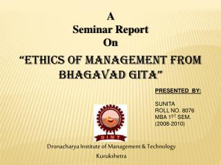 A  Seminar Report On