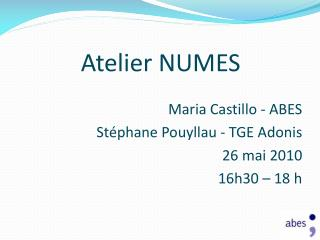 Atelier NUMES