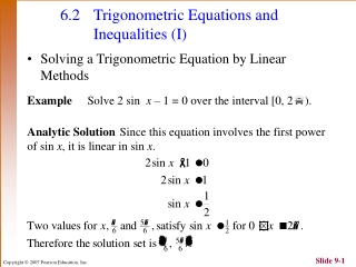 Trigonometric quadratic equations
