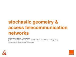 stochastic geometry & access telecommunication networks