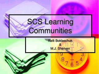 SCS Learning Communities