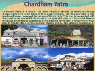 Chardham Yatra a most sacred places of Himalayas