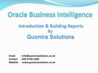 PPT - Business Intelligence, OBIEE+, Leeds Teaching