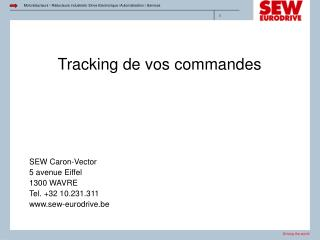 Tracking de vos commandes