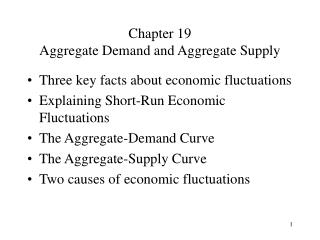 Chapter 19  Aggregate Demand and Aggregate Supply