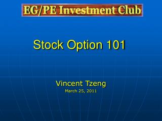 Stock Option 101
