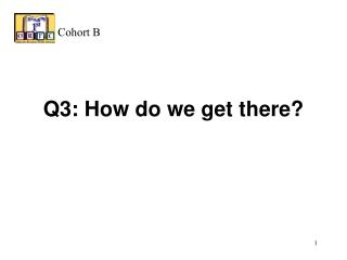 Q3: How do we get there?