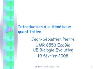 Introduction à la Génétique quantitative