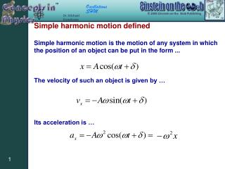 Simple harmonic motion defined