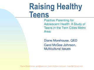 Raising Healthy Teens